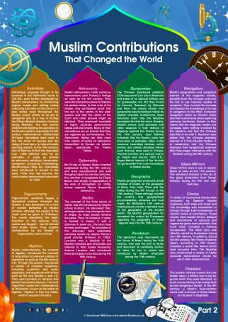 Part 2 - Muslim Contributions That Changed the World by Islamic Posters