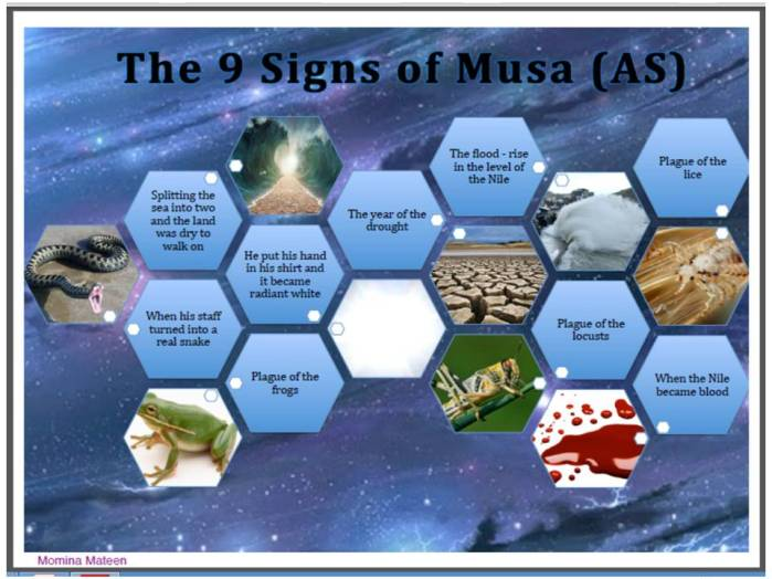 Nine Signs of Prophet Musa alaihis salam